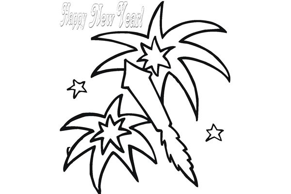 Happy New Year Clipart Black And White Free