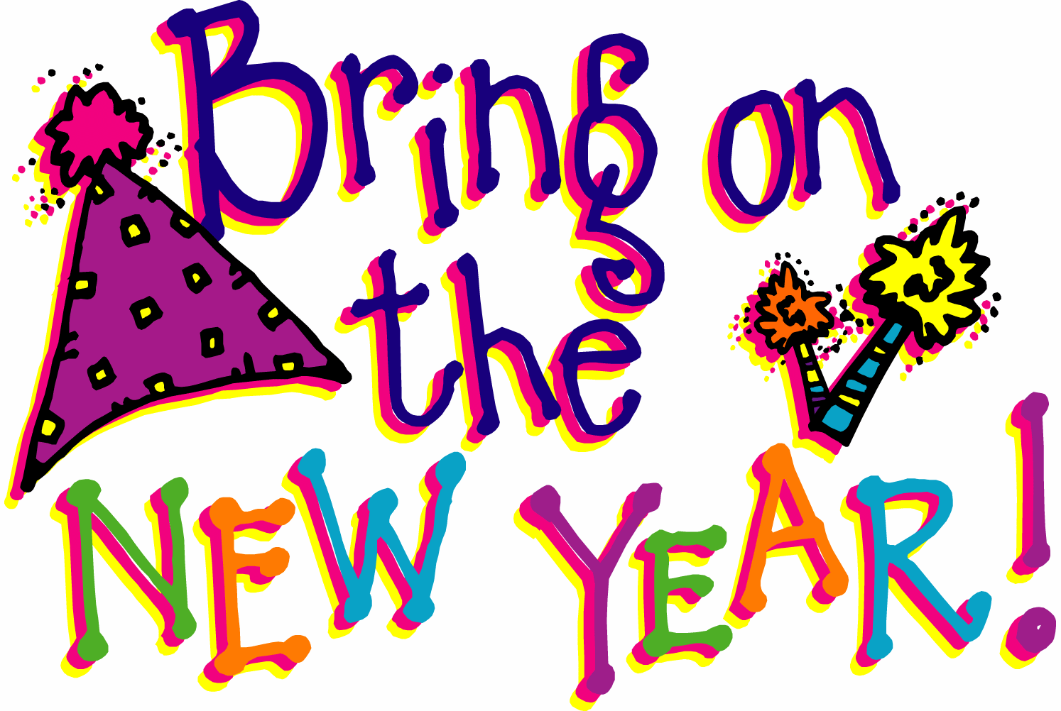 10 Best Happy New Year Clipart Pictures.