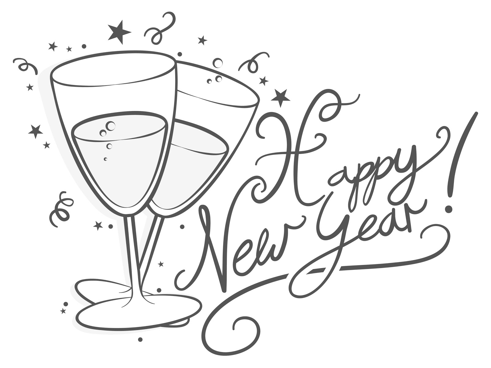 Similiar New Year S Eve Black And White Clip Art Keywords.