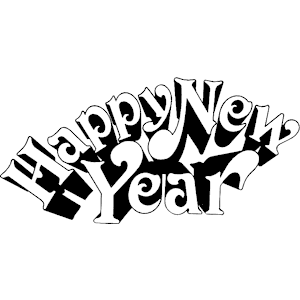 Happy New Year 2015 Clipart Black And White.