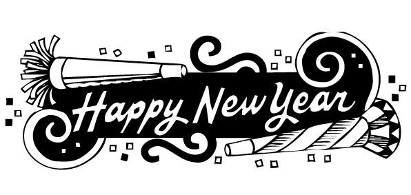 Happy New Year 2017 Clip Art.
