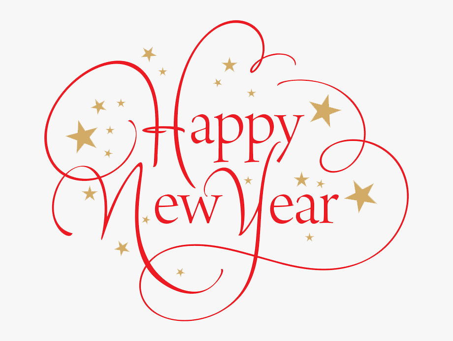 Happy New Year Clipart Png Format.