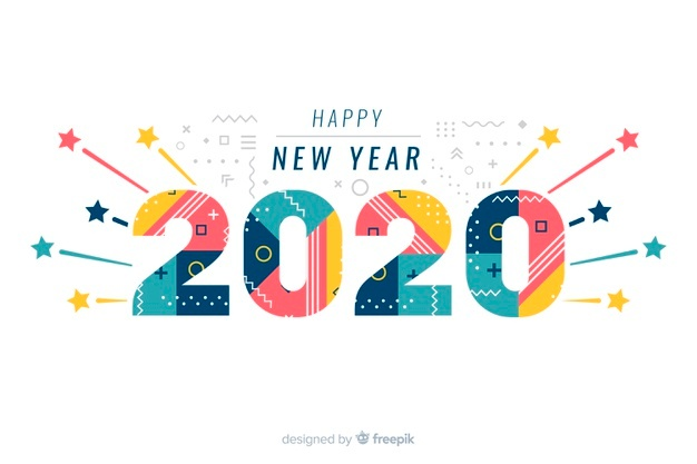 Happy New Year 2020 Vectors, Photos and PSD files.