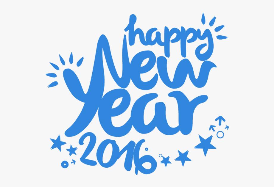 Creative 2016 Happy New Year Text Design.