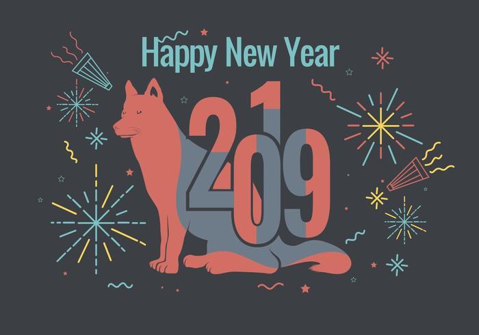 Happy New Year 2019 Vector.