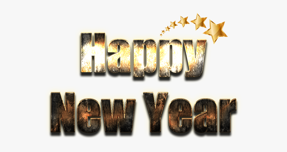 Happy New Year Word Png File.
