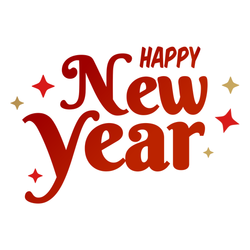 Happy new year lettering.