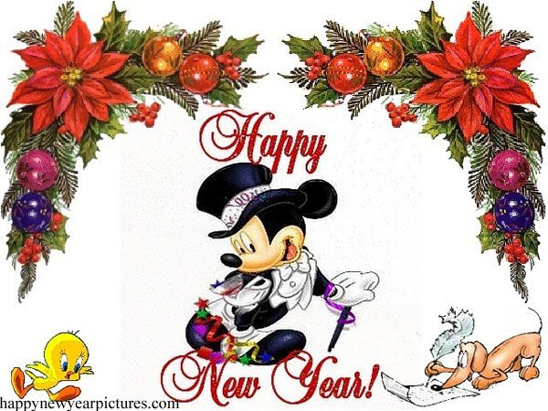 Mickey Mouse Happy New Year Pictures, Wallpapers free.