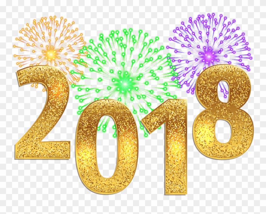 Glitter Clipart Happy New Year.
