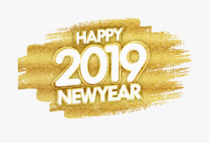 Happy New Year Gold Glitter Png Image Free Download.