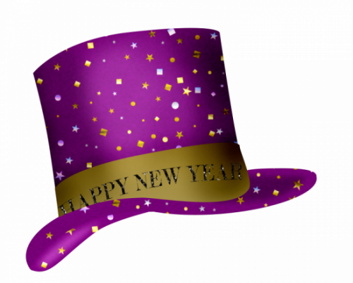 HAPPY NEW YEAR HAT CLIP ART.