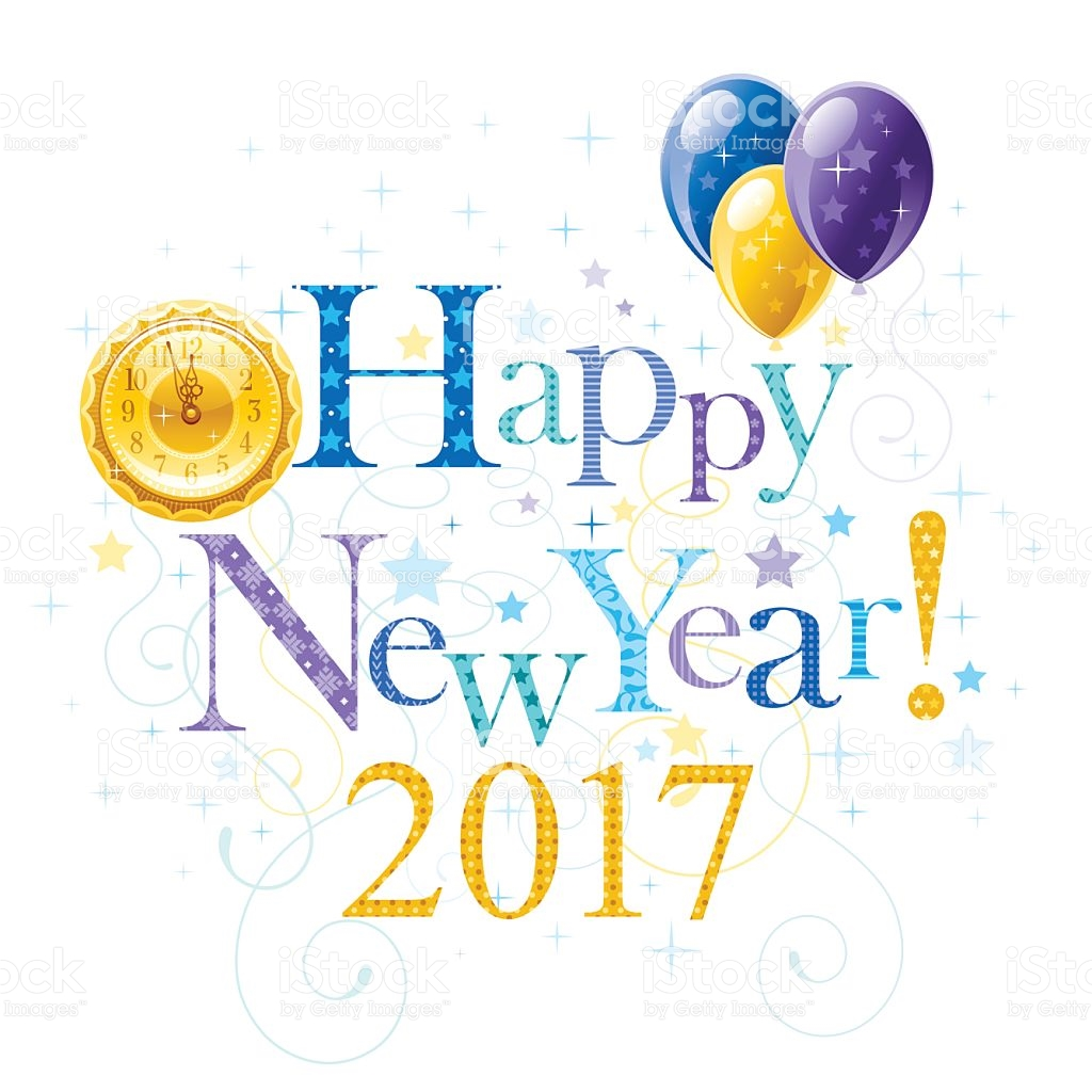 Happy New Year 2017 Holiday Banner stock vector art 615619614.