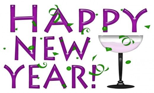 Happy New Year Clip Art & Printable Banner Lettering.