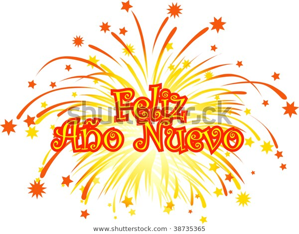 Graphic Depicting Happy New Year Spanish Stock Vector (Royalty Free.