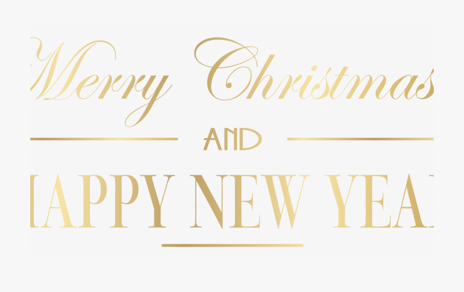 Merry Christmas And Happy New Year Logo 2 With Clipart.