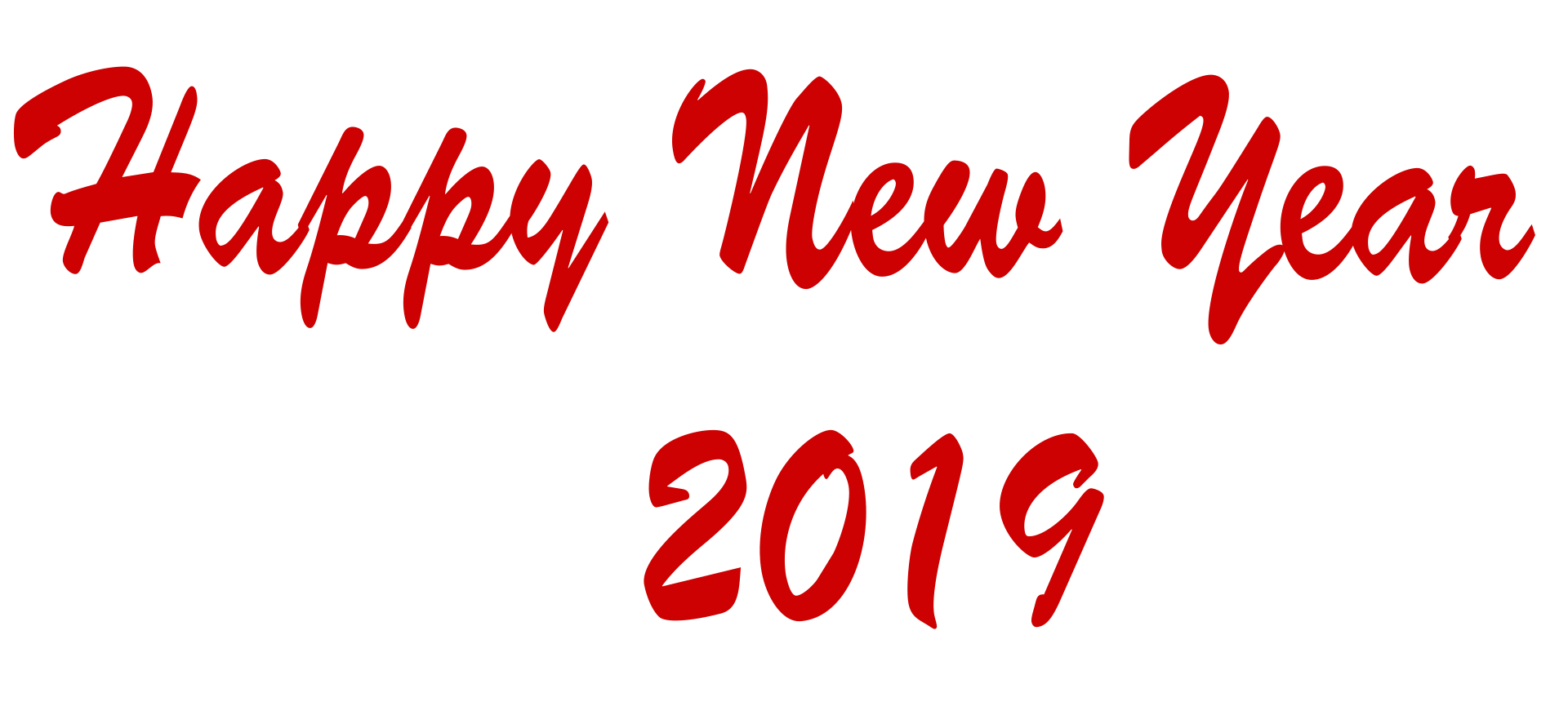 Happy New Year 2019 PNG Image File.