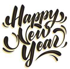 12 Best 2019 Happy New Year Text PNG images.