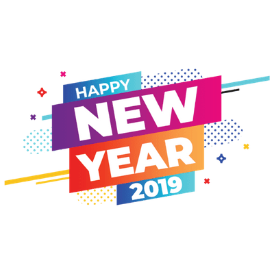 Happy New Year 2019 Banner transparent PNG.