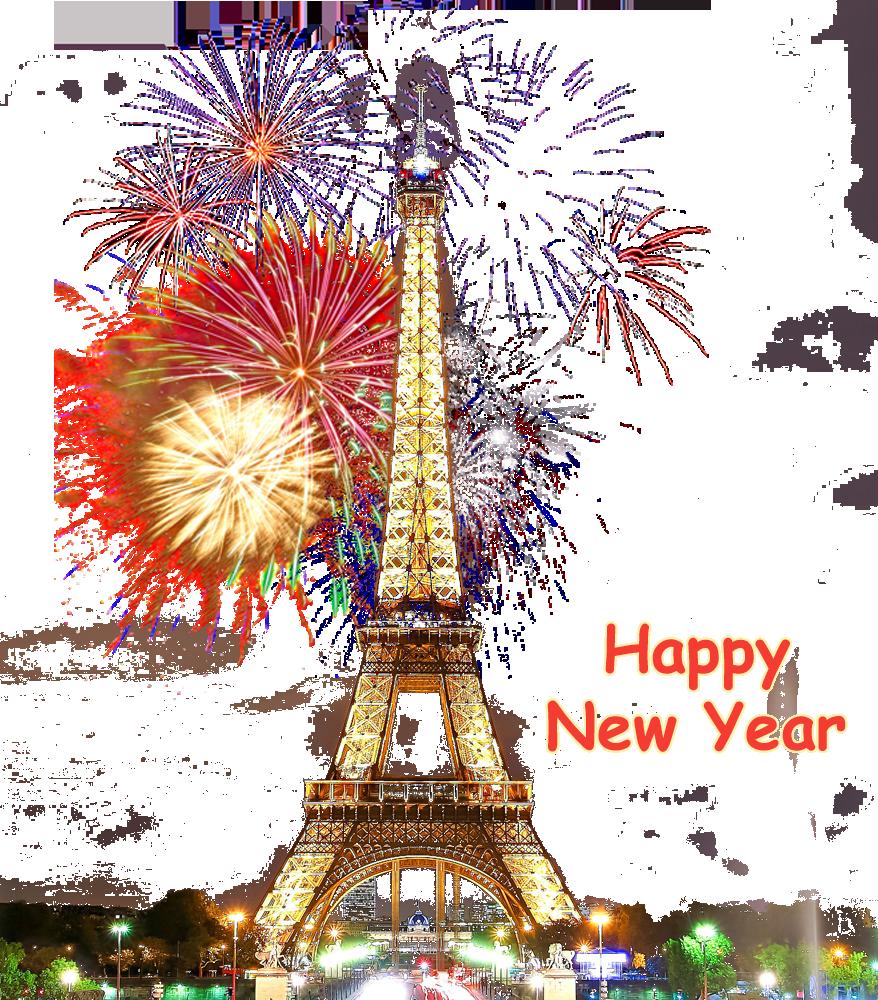 HD Paris Happy New Year Transparent PNG Image Download.