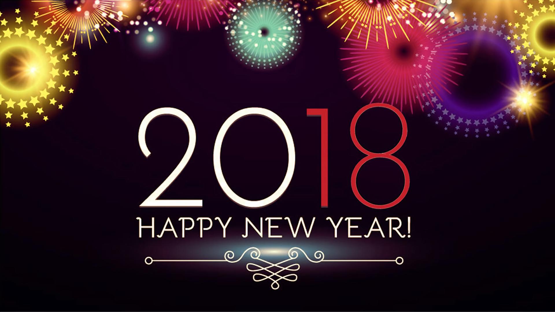 New Year 2018 HD Wallpaper.