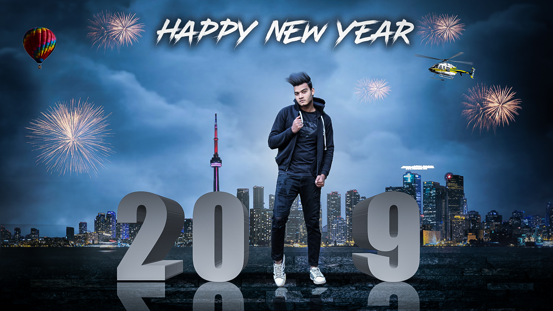 Happy New Year 2019 Background, Text, PNG Stock Download for Picsart.