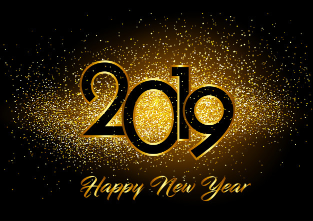 Happy new year background with glitter effect Vector.