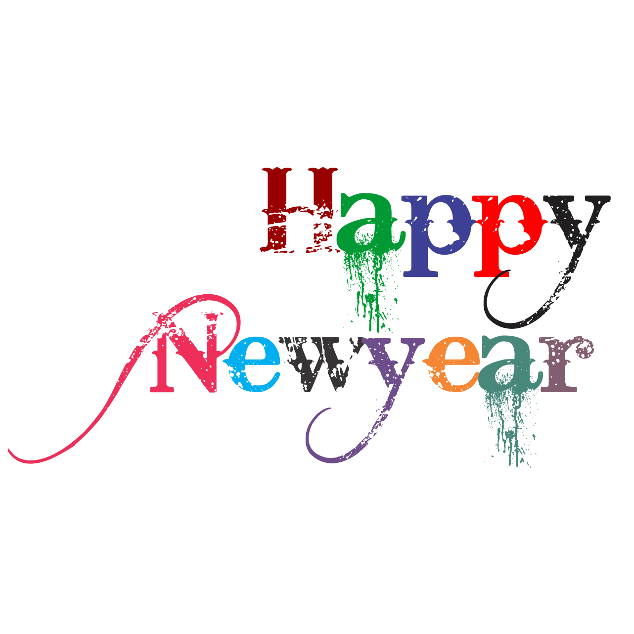 Happy New Year PNG Transparent Happy New Year.PNG Images..