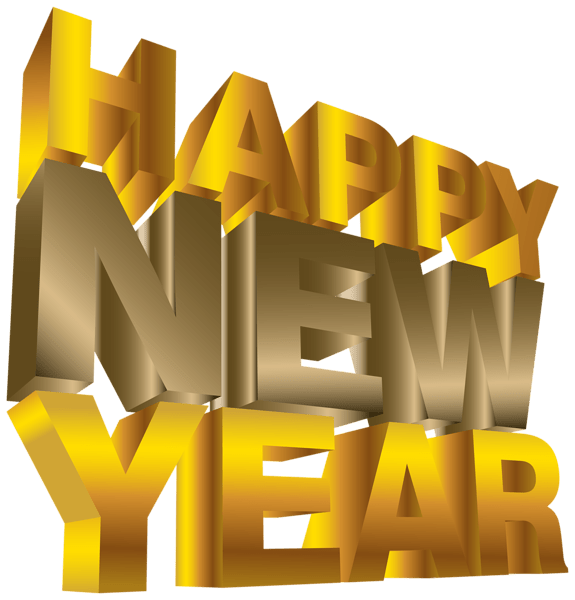Happy New Year Movie Letters transparent PNG.