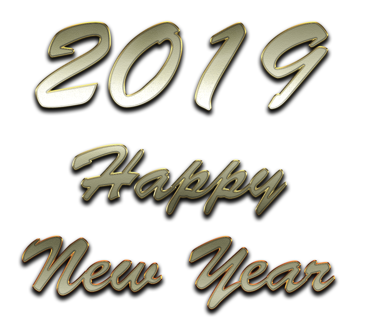 2019 Happy New Year PNG Transparent Images.