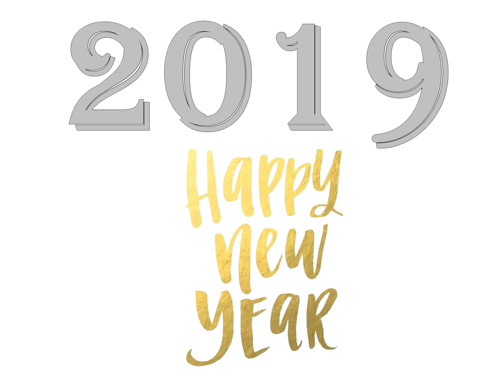 New Year 2019 PNG Transparent Images Free Download.