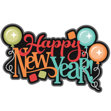 Happy New Year Balloons Colourful transparent PNG.