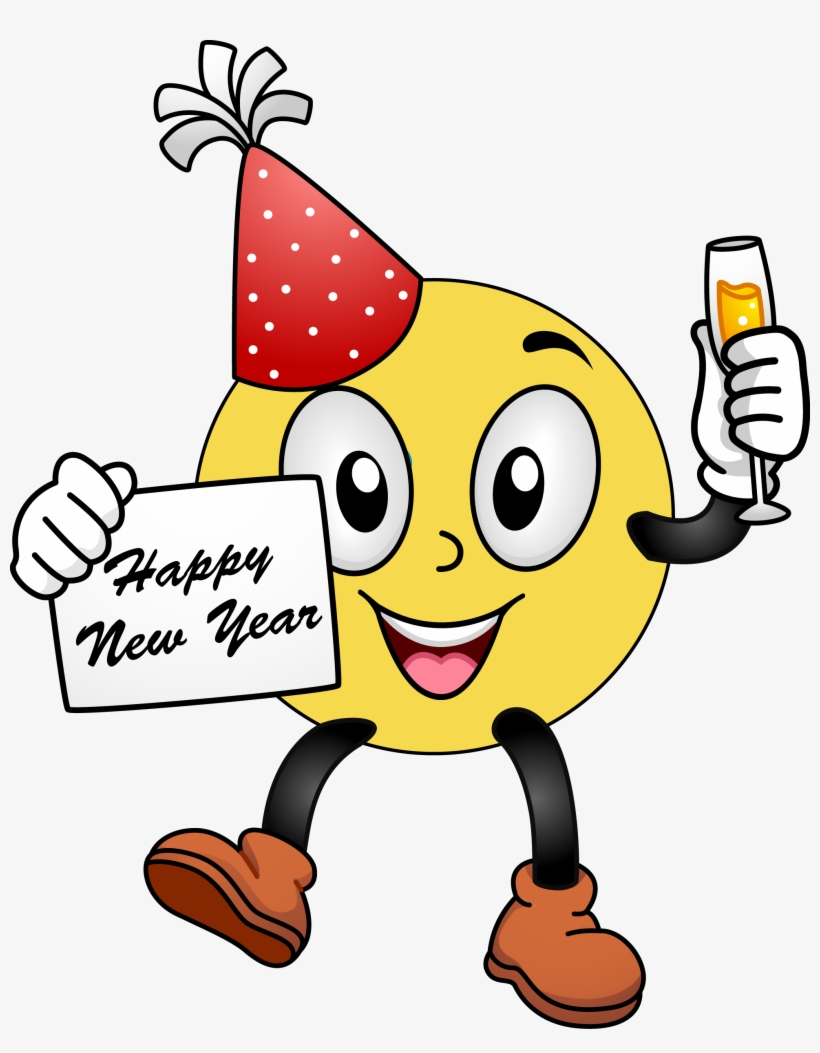 Happy New Year Smiley Face Clip Art Clipart Free Clipart.