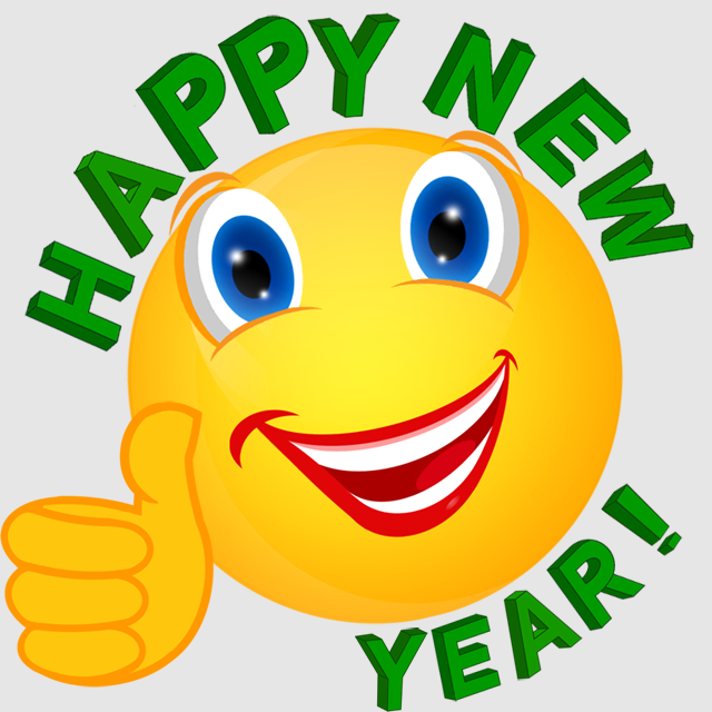 Happy New Year Icon clipart.
