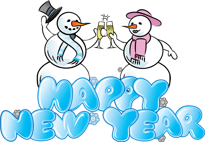 Great Clip Art of Snowmen and Carolers.