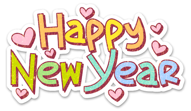 Happy New Year Sticker transparent PNG.