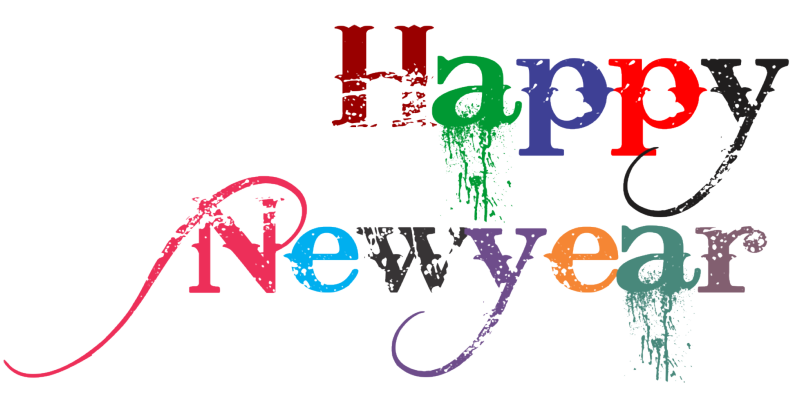 Happy New Year (WhatsApp Sticker) PNG Transparent Images.