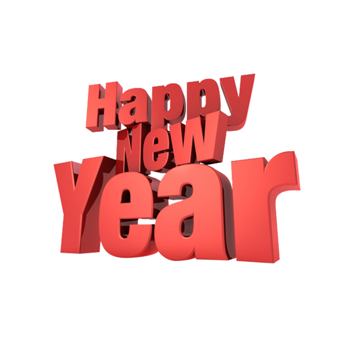 Happy New Year 3D text PNG Image Free Download searchpng.com.