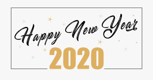 Happy New Year 2020 Clip Art.