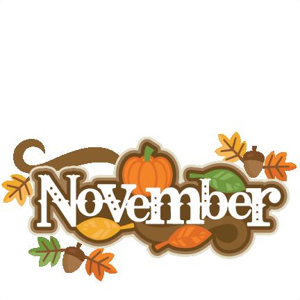Free November Birthday Clipart.