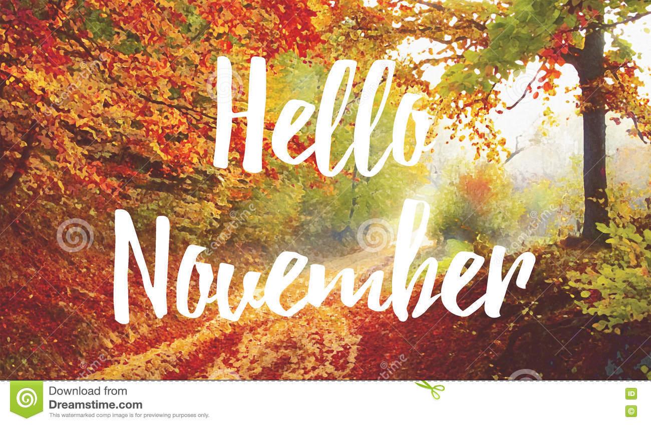 Happy November Clip Art.