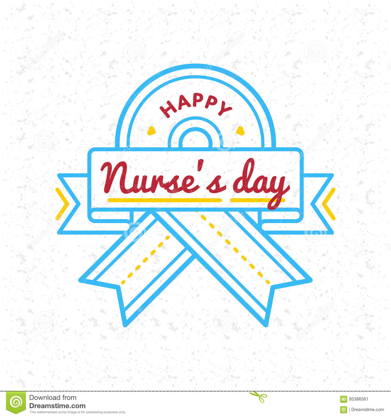 Happy Nurses Day Greeting Emblem Stock Vector.
