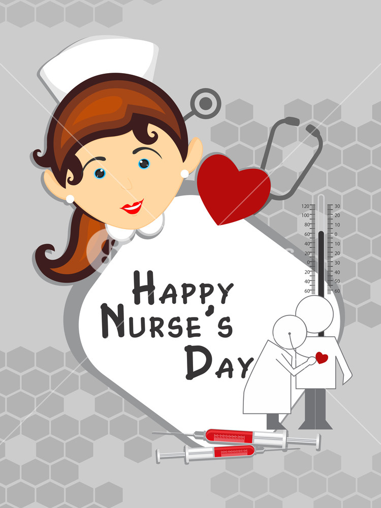 Happy Nurse\'s Day Background Royalty.