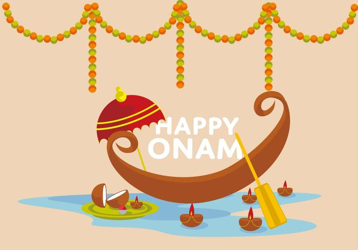 Free Happy Onam Vector Illustrator.