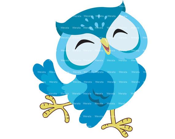 Happy Owl Clipart.