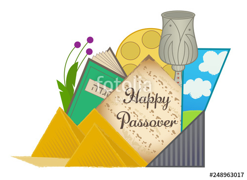 Decorative Happy Passover clip.