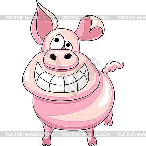 Happy Pig Clipart.