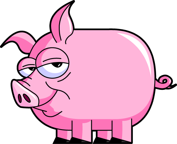 Pig clip art character.
