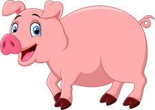Happy Pig Cartoon Royalty Free Stock Photography.
