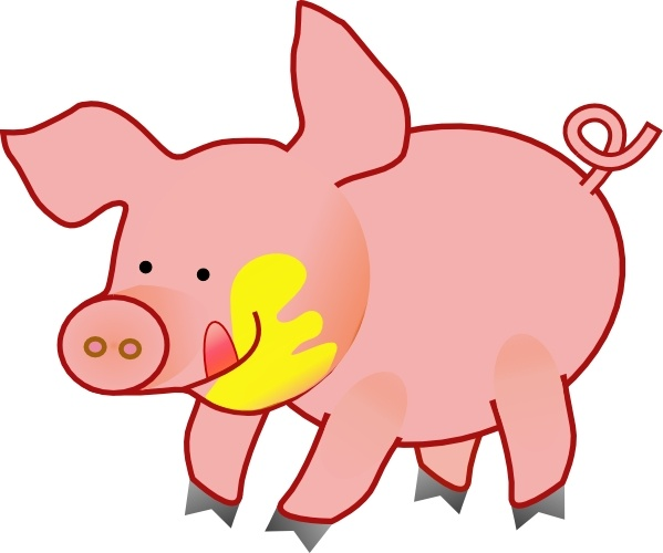 Happy Pig clip art Free vector in Open office drawing svg ( .svg.