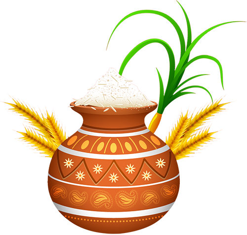 Pongal Wishes Clipart.